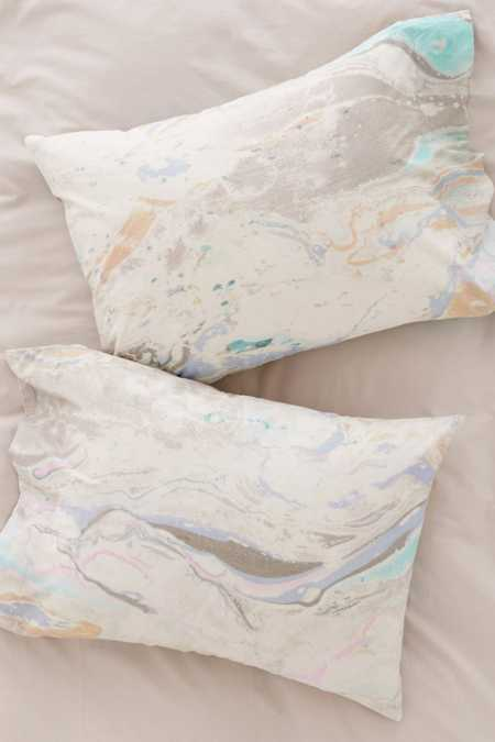 Mixed Marble Pillowcase Set
