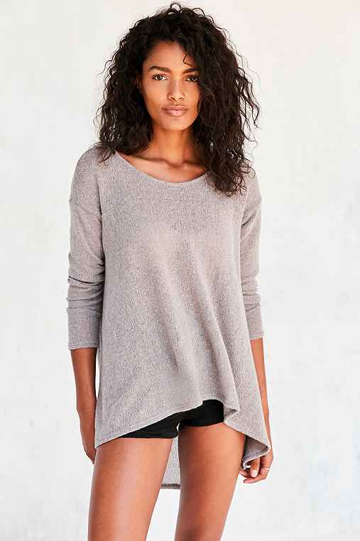 Kimchi Blue Blaire High/Low Tunic Sweater,GREY,XS