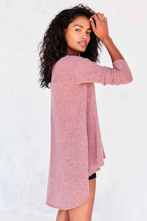 Kimchi Blue Blaire High/Low Tunic Sweater,MAUVE,XS