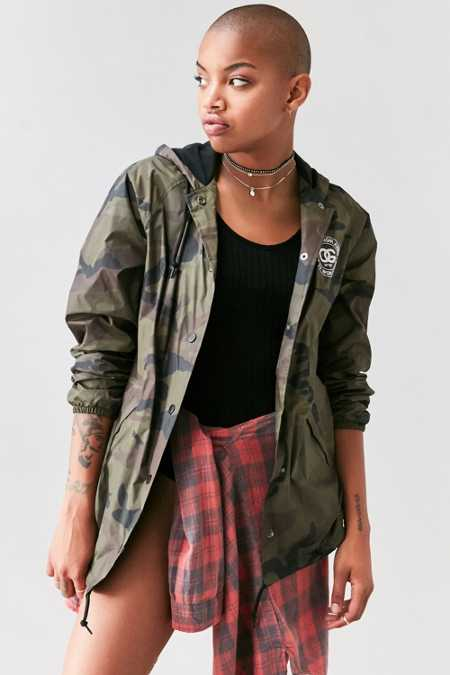 OBEY Rue De La Ruine Camo Hooded Coach Jacket