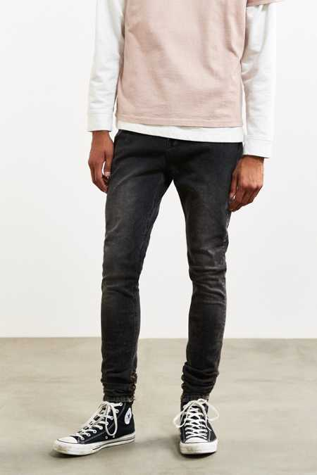 BDG Washed Black Stacked Skinny Jean