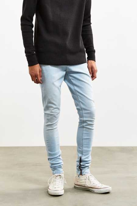 BDG Light Wash Stacked Skinny Jean