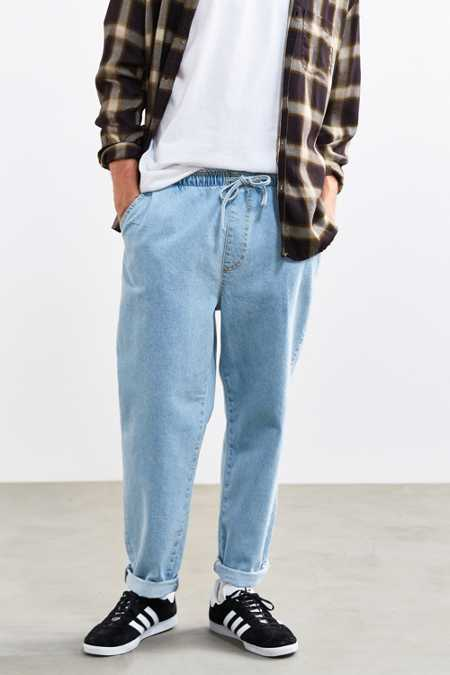 BDG Elastic Waist Light Stonewash Denim Pant