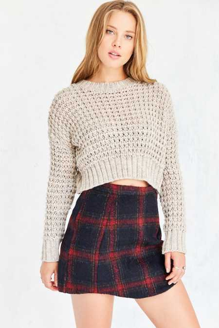 Cooperative Elton Plaid Mini Skirt