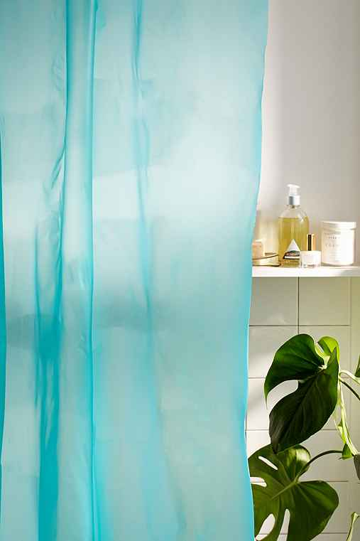 Solid Shower Curtain Liner,TURQUOISE,72X72