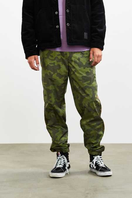 UO Colorblocked Camo Nylon Pant