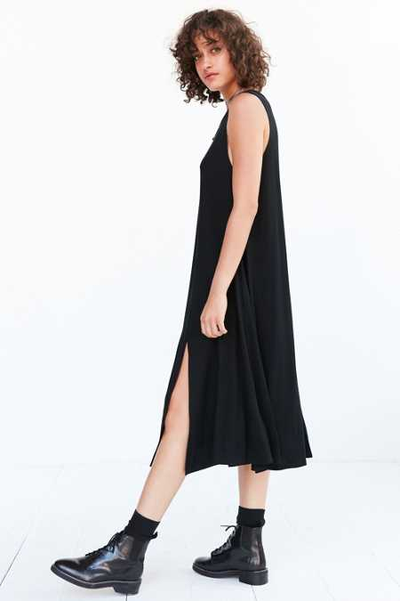 Silence + Noise Slit Knit Midi Tank Dress