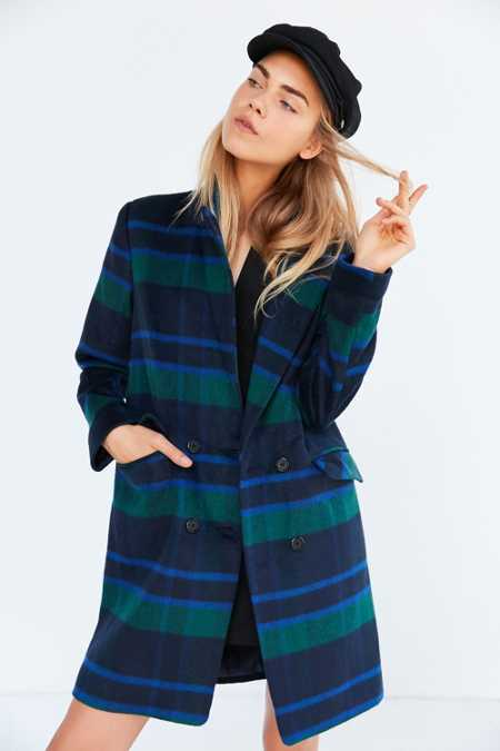 J.O.A. Plaid Long Coat