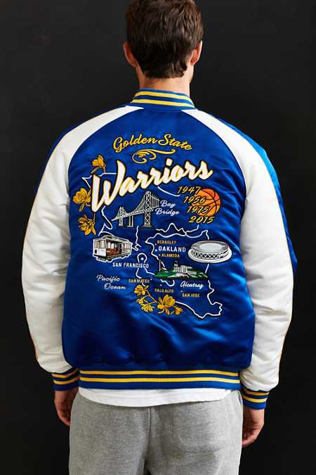 Starter X UO NBA Golden State Warriors Souvenir Jacket
