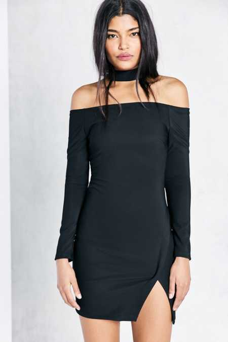 ASTR Margaux Choker Bodycon Mini Dress