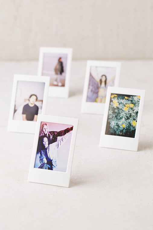 Plastic Instax Frames Set,WHITE,ONE SIZE