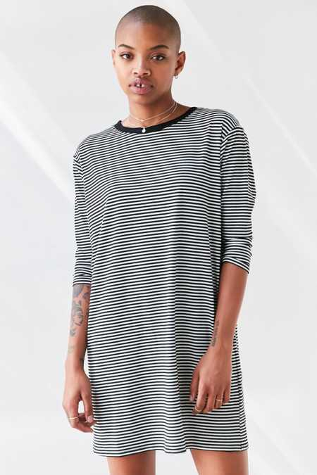 BDG Long-Sleeve Striped T-Shirt Dress
