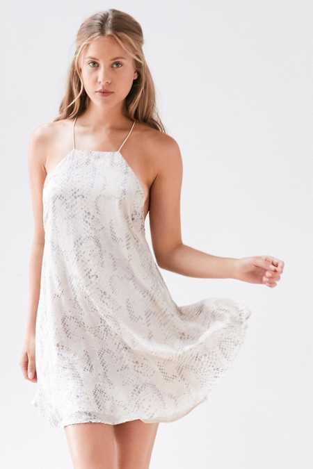 Silence + Noise Viper Burnout Chiffon Mini Dress