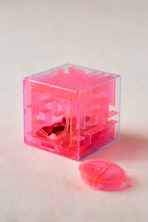 Maze Coin Bank,PINK,ONE SIZE