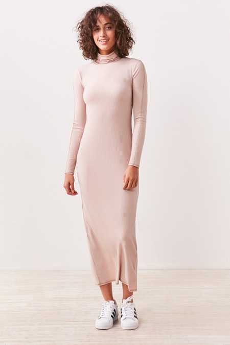 Silence + Noise Evangalista Turtleneck Bodycon Maxi Dress
