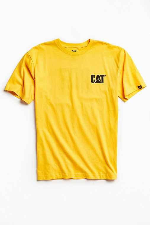 CAT Trademark Tee,YELLOW,S