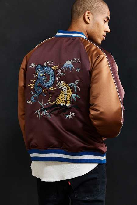 UO Embroidered Dragon Souvenir Jacket