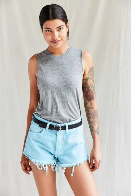 Urban Renewal Recycled Overdyed Cutoff Short