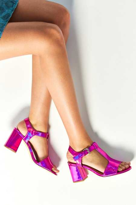 Christy Pink T-Strap Heel