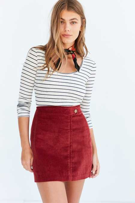 BDG Everest Corduroy Mini Skirt