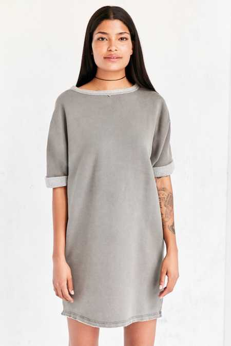 Silence + Noise Dax Dolman Sweatshirt Mini Dress