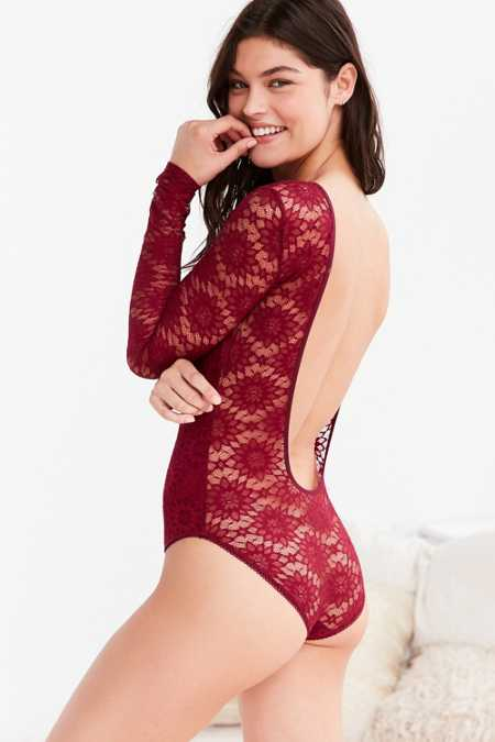 Out From Under Loralie Open Back Lace Bodysuit