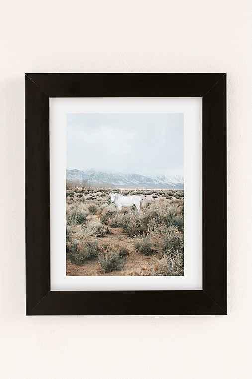 Rodrigo Trevino Desert Horse Art Print,BLACK MATTE FRAME,18X24