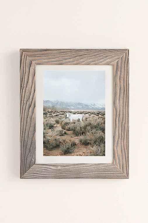 Rodrigo Trevino Desert Horse Art Print,BUFF BARNWOOD FRAME,40X60