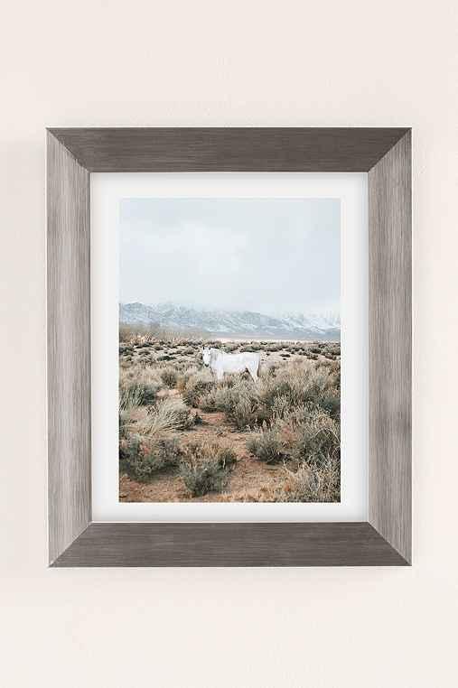 Rodrigo Trevino Desert Horse Art Print,SILVER MATTE FRAME,13X19
