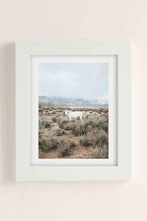 Rodrigo Trevino Desert Horse Art Print,WHITE MATTE FRAME,18X24