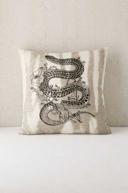 Printed Snake Pillow