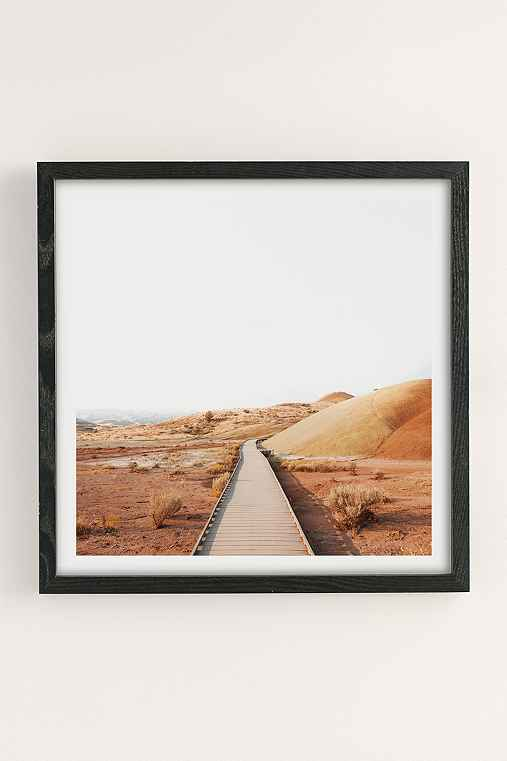 Rodrigo Trevino Painted Hills II Art Print,BLACK WOOD FRAME,16X16