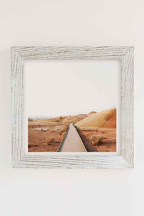 Rodrigo Trevino Painted Hills II Art Print,WHITE BARNWOOD FRAME,20X20