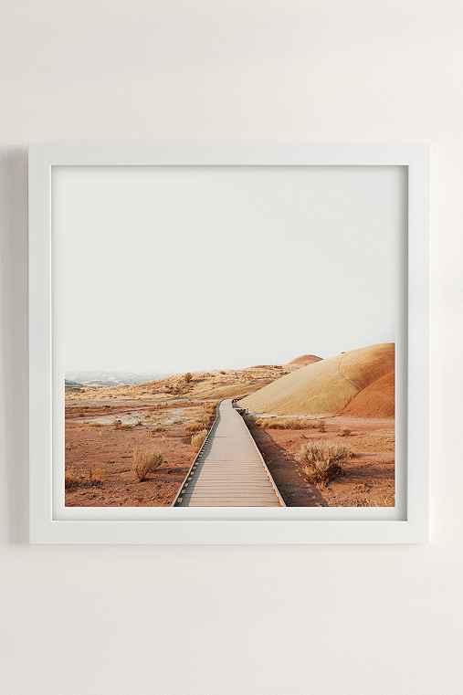 Rodrigo Trevino Painted Hills II Art Print,WHITE MATTE FRAME,20X20