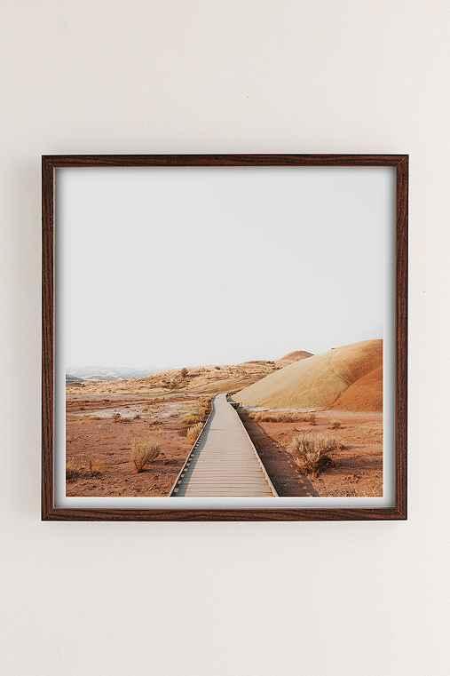 Rodrigo Trevino Painted Hills II Art Print,WALNUT WOOD FRAME,16X16