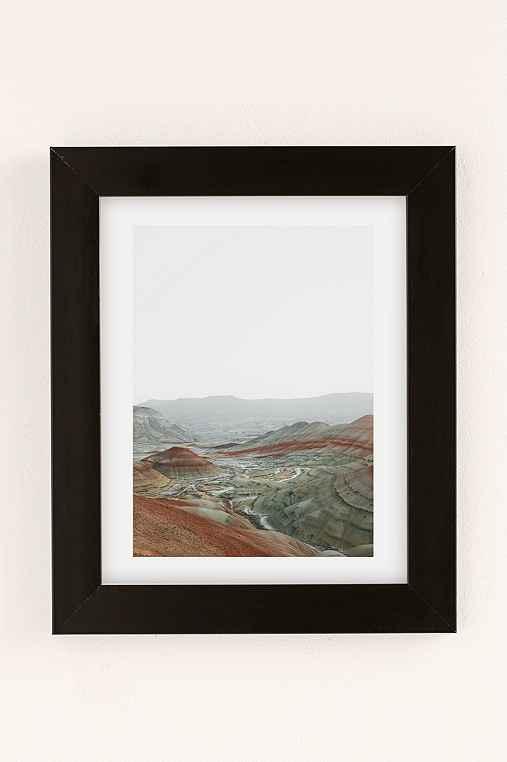 Rodrigo Trevino Painted Hills I Art Print,BLACK MATTE FRAME,30X40