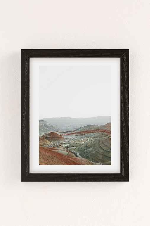 Rodrigo Trevino Painted Hills I Art Print,BLACK WOOD FRAME,8X10