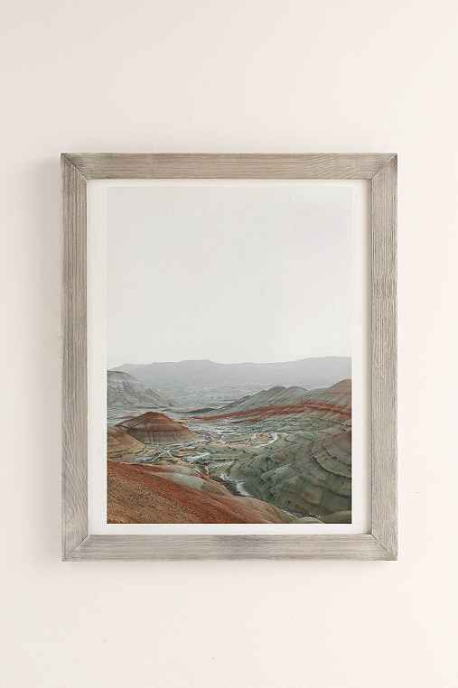 Rodrigo Trevino Painted Hills I Art Print,GREY BARNWOOD FRAME,18X24