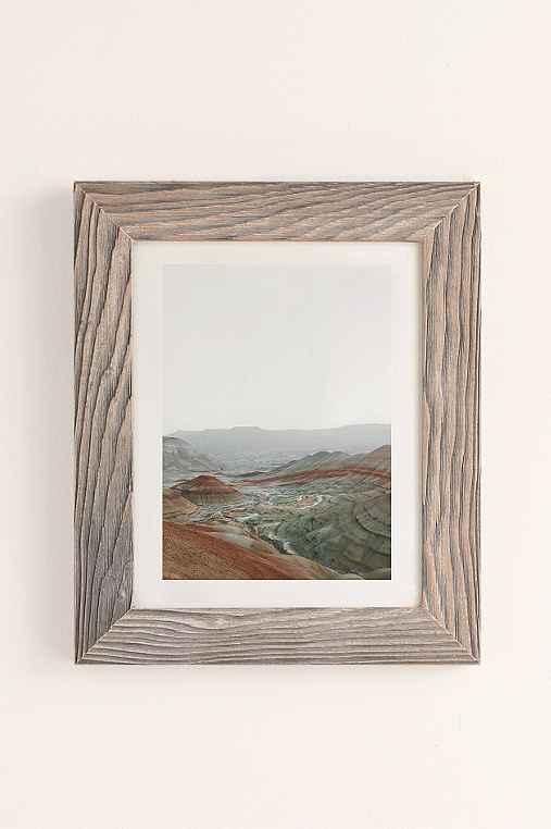 Rodrigo Trevino Painted Hills I Art Print,BUFF BARNWOOD FRAME,40X60
