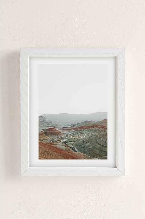 Rodrigo Trevino Painted Hills I Art Print,WHITE WOOD FRAME,8X10