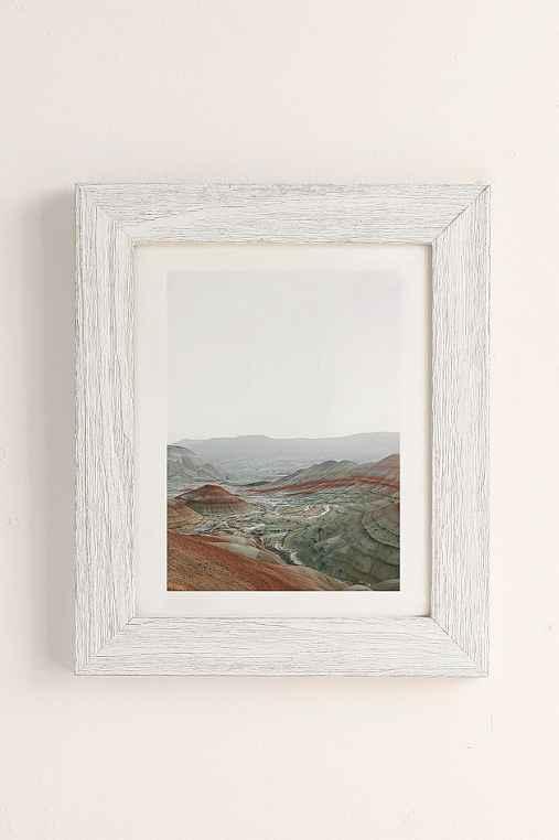 Rodrigo Trevino Painted Hills I Art Print,WHITE BARNWOOD FRAME,40X60