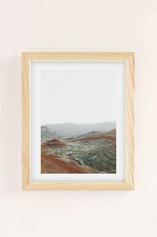 Rodrigo Trevino Painted Hills I Art Print,NATURAL WOOD FRAME,13X19