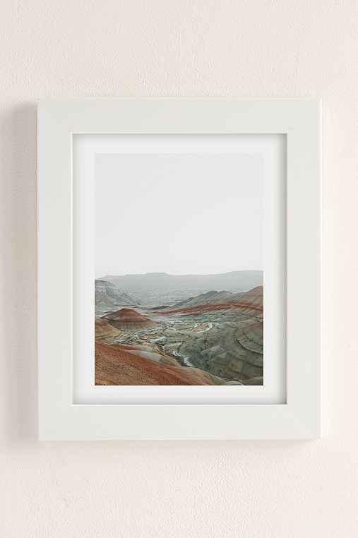 Rodrigo Trevino Painted Hills I Art Print,WHITE MATTE FRAME,13X19
