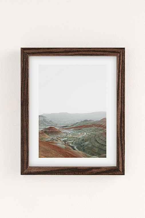 Rodrigo Trevino Painted Hills I Art Print,WALNUT WOOD FRAME,8X10