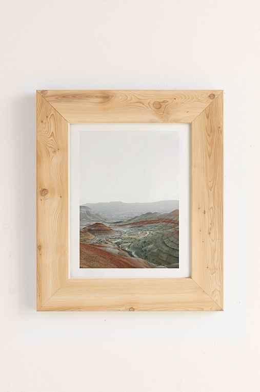 Rodrigo Trevino Painted Hills I Art Print,PINE FRAME,40X60