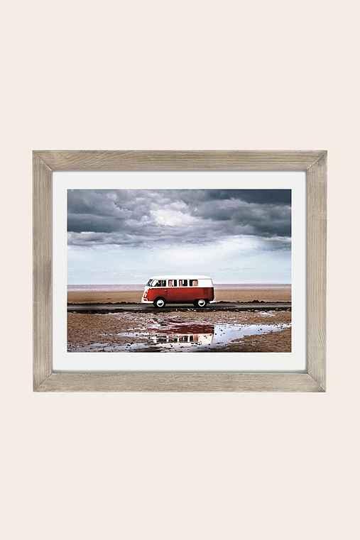 Dean Martindale Tide Away Art Print,GREY BARNWOOD FRAME,18X24