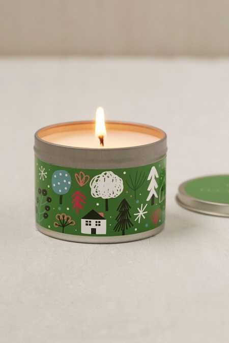 Artist Print Holiday Tin Candle