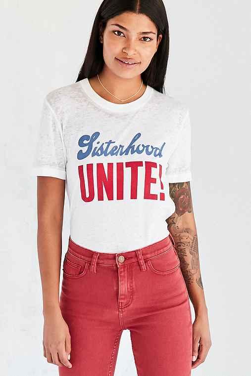 BDG Sisterhood Unite Tee,WHITE,S