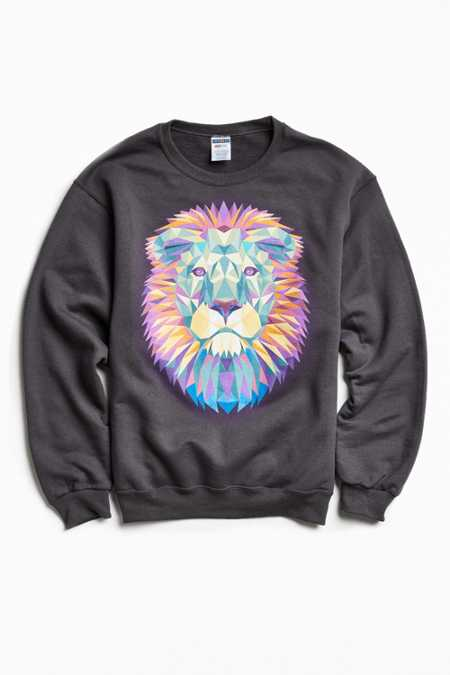 Lion Fleece Crew Neck Sweatshirt