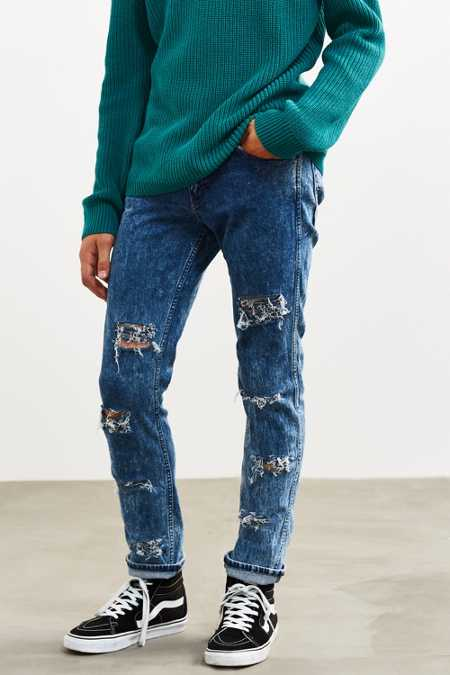 Shredded Bleach Wash Levi's 511 Slim Jean
